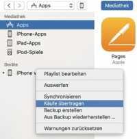iTunes 12.6 archiviert auf Wunsch die Apps eines iOS-Geräts. So hat man sie auch später noch im Zugriff, wenn sie nicht mehr im App Store stehen.