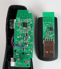 Das Innenleben des verwundbaren USB.Empfängers.