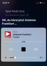 Teils startet Siri den falschen Radiosender –oder gar keinen.