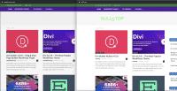 Ein Screenshot zweier Fake-Plattformen, auf denen die Themes angeboten wurden.