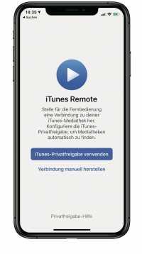 Nennt sich zwar immer noch iTunes Remote, steuert aber auch Musik in macOS 10.15.