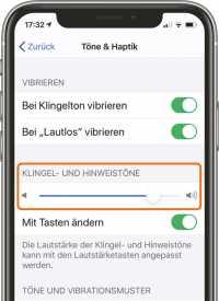 Auch wenn die Musikwiedergabe ganz laut erklingt, kann der iPhone-Wecker ganz leise eingestellt sein.
