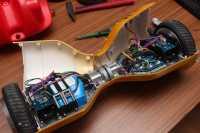 Ein geöffnetes Hoverboard.