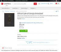 Einwohner Georgias mussten bisher diese Bezahlschranke überwinden, um sich über das für sie geltende Recht zu informieren.