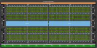 Die Architektur des GA100-Chips: Im Vollausbau gibts 128 Shader Multiprozessoren.