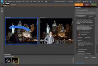 Photoshop Elements kombiniert mehrere Fotos zu einem gleichmäßig ausgeleuchteten Bild.