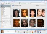 Picasa 3.5 erkennt Gesichter, braucht beim Zuordnen aber Hilfe vom Nutzer.