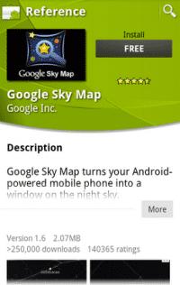 Screenshot der Market-App