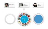 Abb. 1: Google Circles: Freundeskreis per Drag-and-Drop editieren