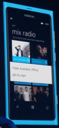 Nokias Mix Radio funktioniert auch ohne Online-Verbindung