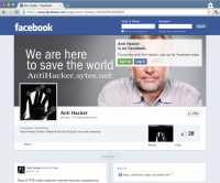 Facebook-Seite von Anti Hacker