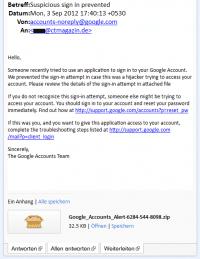 Google Sicherheitswarnung Fake