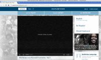 Schneetreiben statt Video auf der Website des Democratic National Congress
