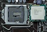 LGA1155-Fassung mit Prozessor