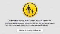 Löchrige Kindersicherung in Mac OS X Yosemite