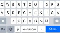 iOS 8.3 verlängert Leertaste bei Suchanfragen