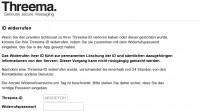 Threema zerstört Nutzerdaten auf Wunsch