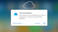 Erneuter Ausfall bei iCloud