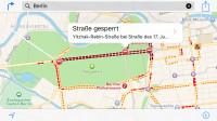 Navigation: iOS 9 warnt vor Staus und Verkehrsbehinderungen