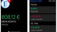OutBank zeigt Kontostand auf der Apple Watch