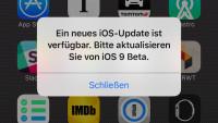 iOS 9: Irreführender Dialog bittet zum Update