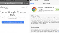 Google startet öffentlichen Betatest für Chrome unter iOS