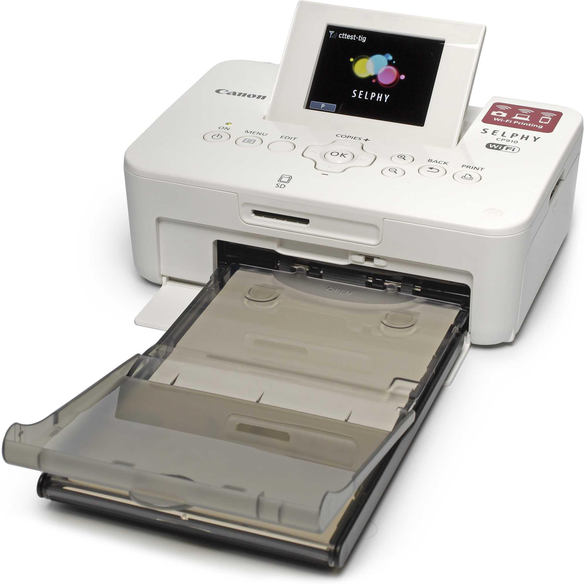 Der Canon Selphy CP910 druckt 10x15-Fotos mit dem Thermotransferverfahren. Transferfolie und Fotopapier verkauft der Hersteller nur im Kombipack.