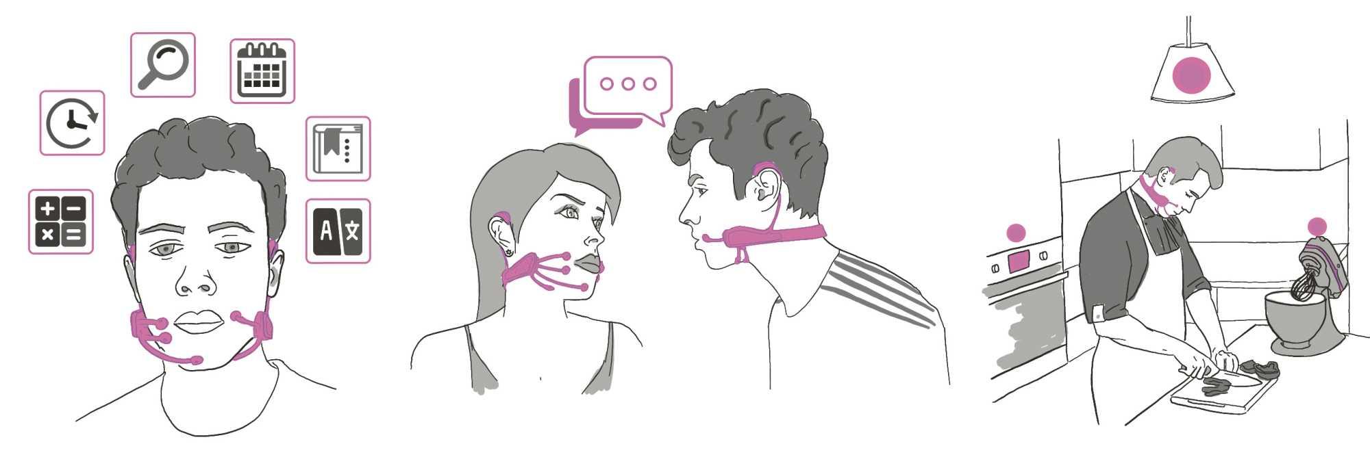 Im Stillen starten AlterEgo-Anwender Online-Abfragen oder sie stimmen sich diskret untereinander ab.