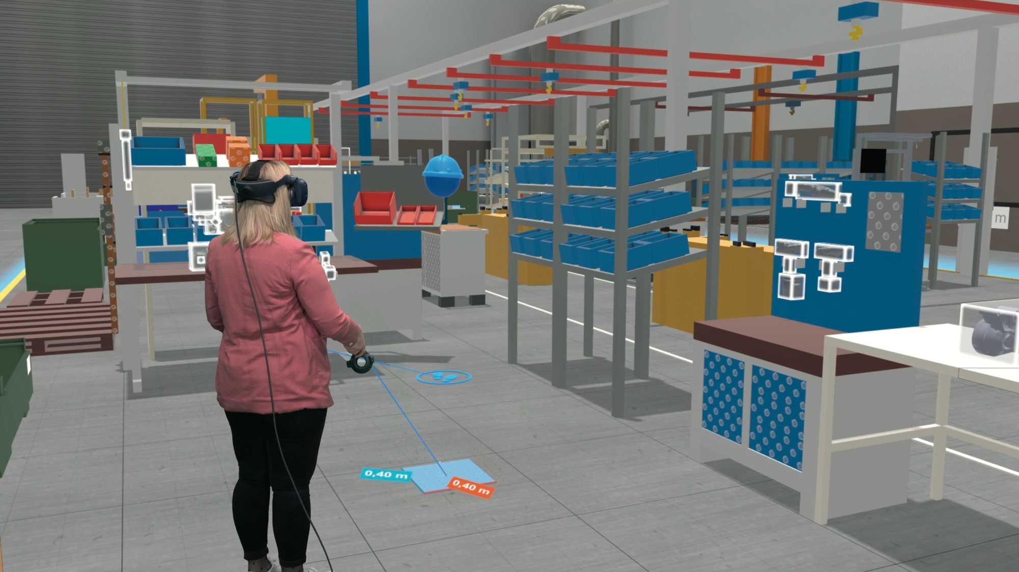 Per Handbewegung Regale aufbauen: Die Boxplan-VR-Software ist deutlich einfacher zu bedienen als ein CAD-Programm.