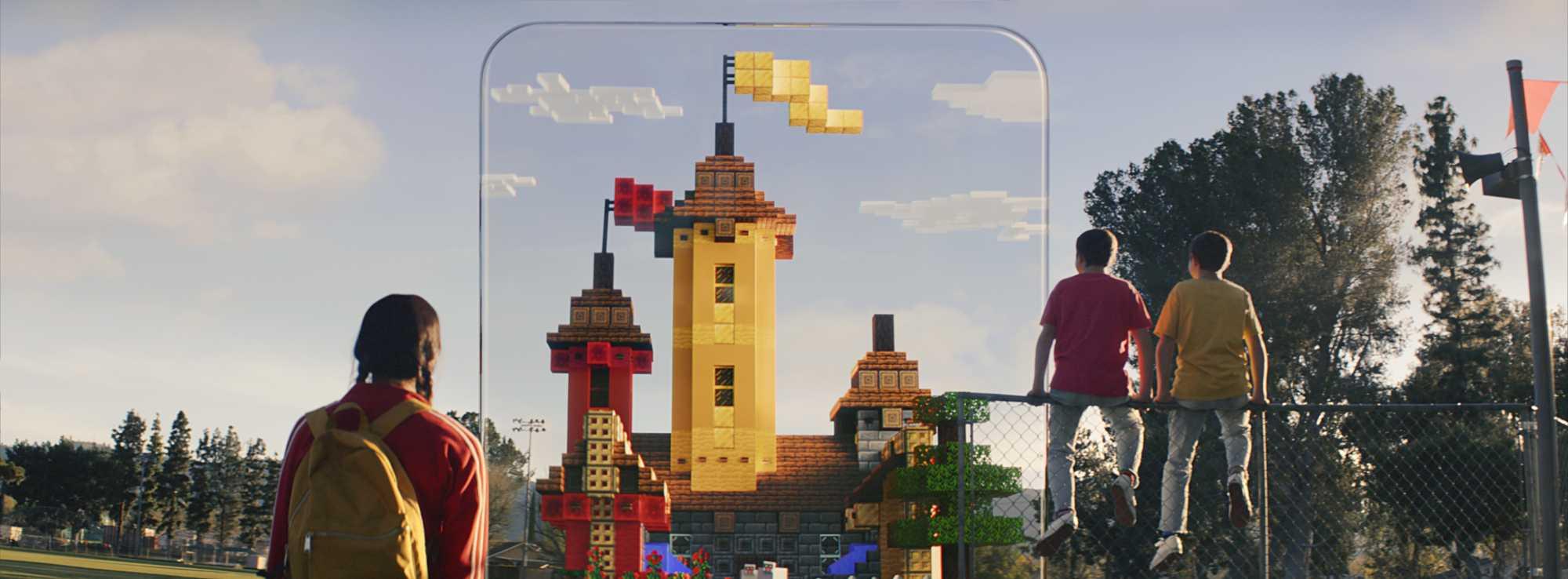 Minecraft Earth kommt nur für Android- und iOS-Mobilgeräte, nicht für das AR-Headset Hololens.