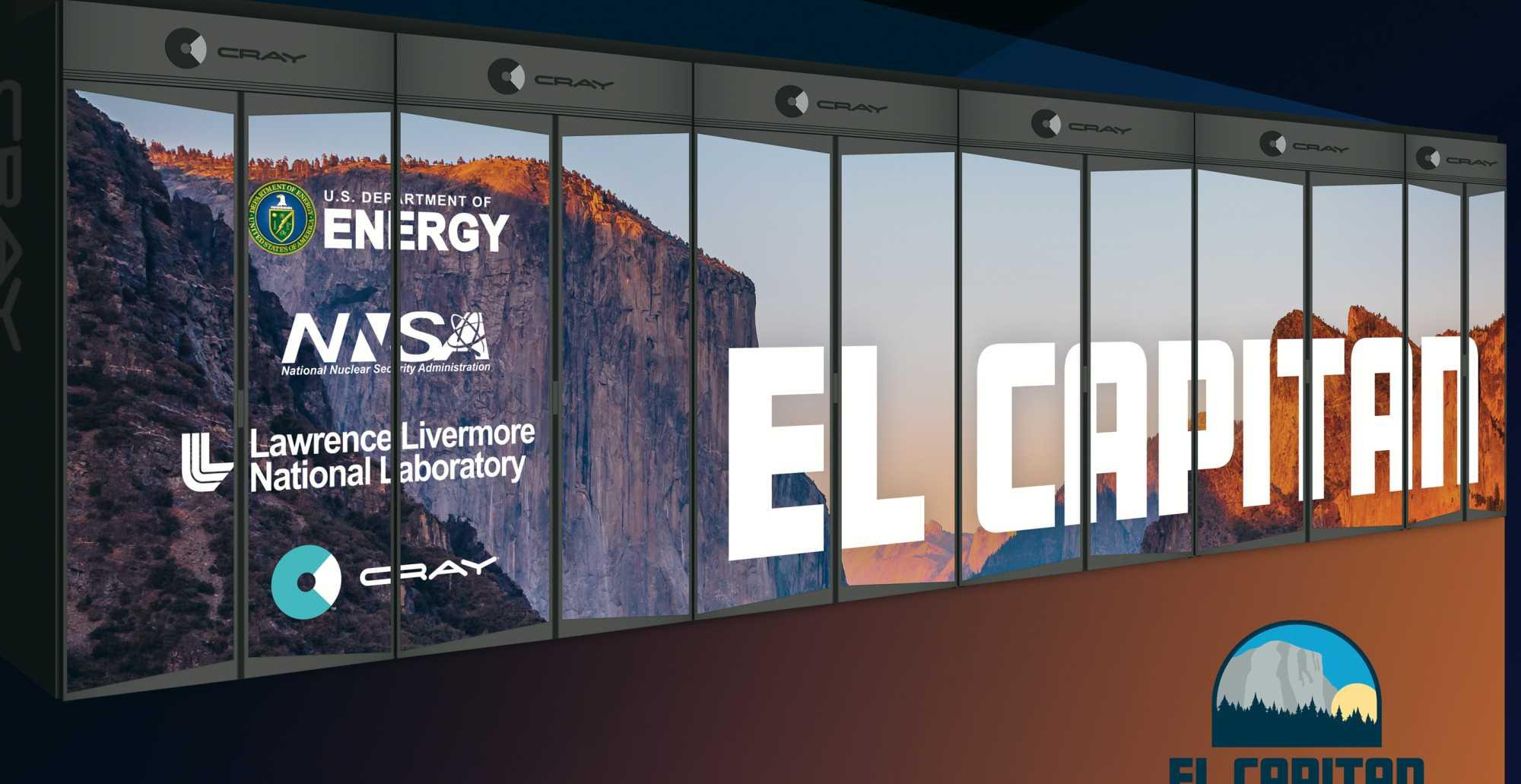 """2023 soll der Supercomputer """"El Capitan"""" dem US-LLNL über 1,5 Exaflops Rechenleistung liefern – aber mit welchen Chips, ist noch offen."""