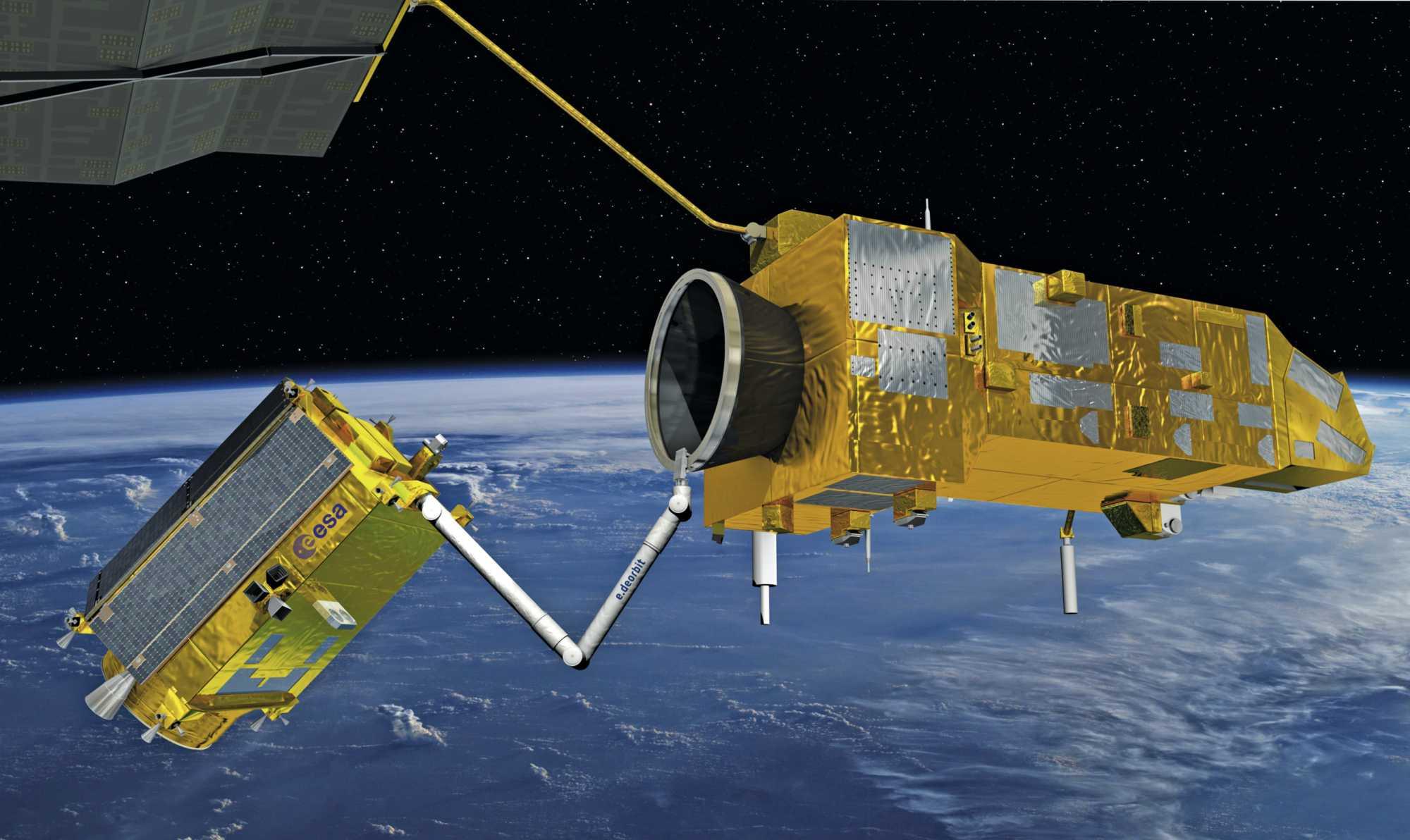 Das e.Deorbit-Konzept soll im Jahre 2025 zeigen, wie man defekte Satelliten bergen kann.