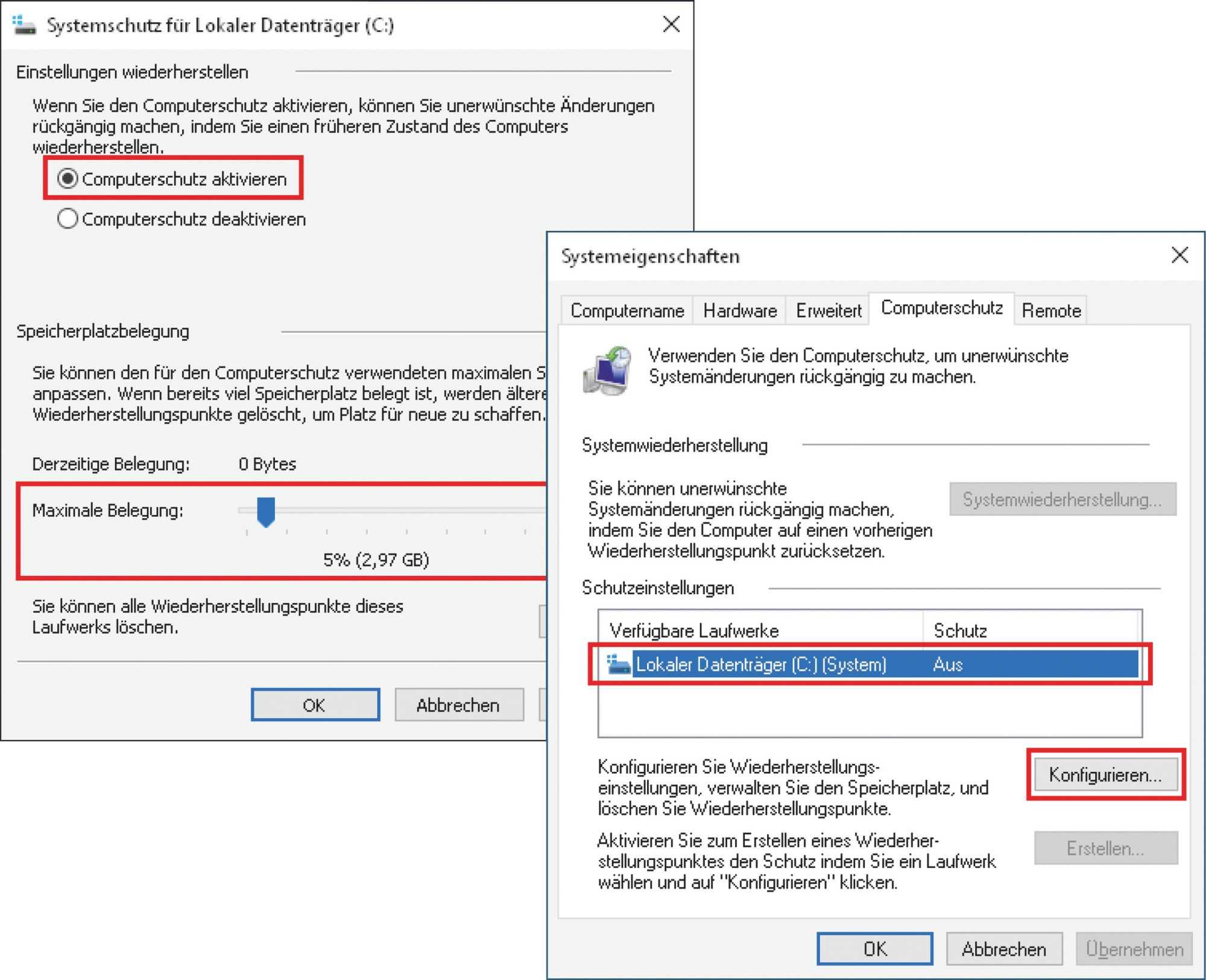 Windows 10 erzeugt ab Werk keine Widerherstellungspunkte – und das ändern Sie mit ein paar Handgriffen.