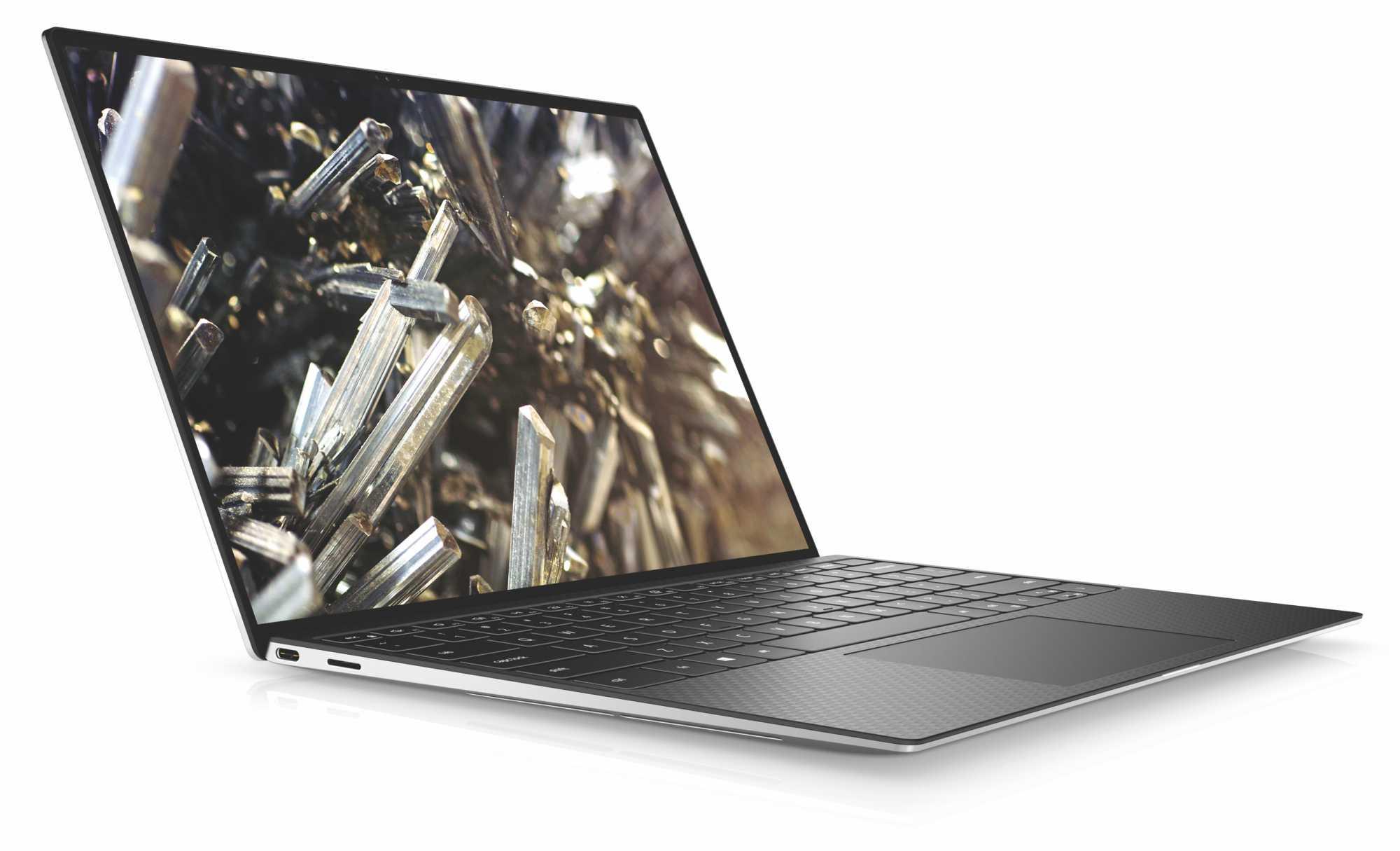 Das Dell XPS 13 nutzt in der 2020er Auflage ein 16:10-Display; durch die schmalen Ränder fällt der Rahmen kaum noch auf.