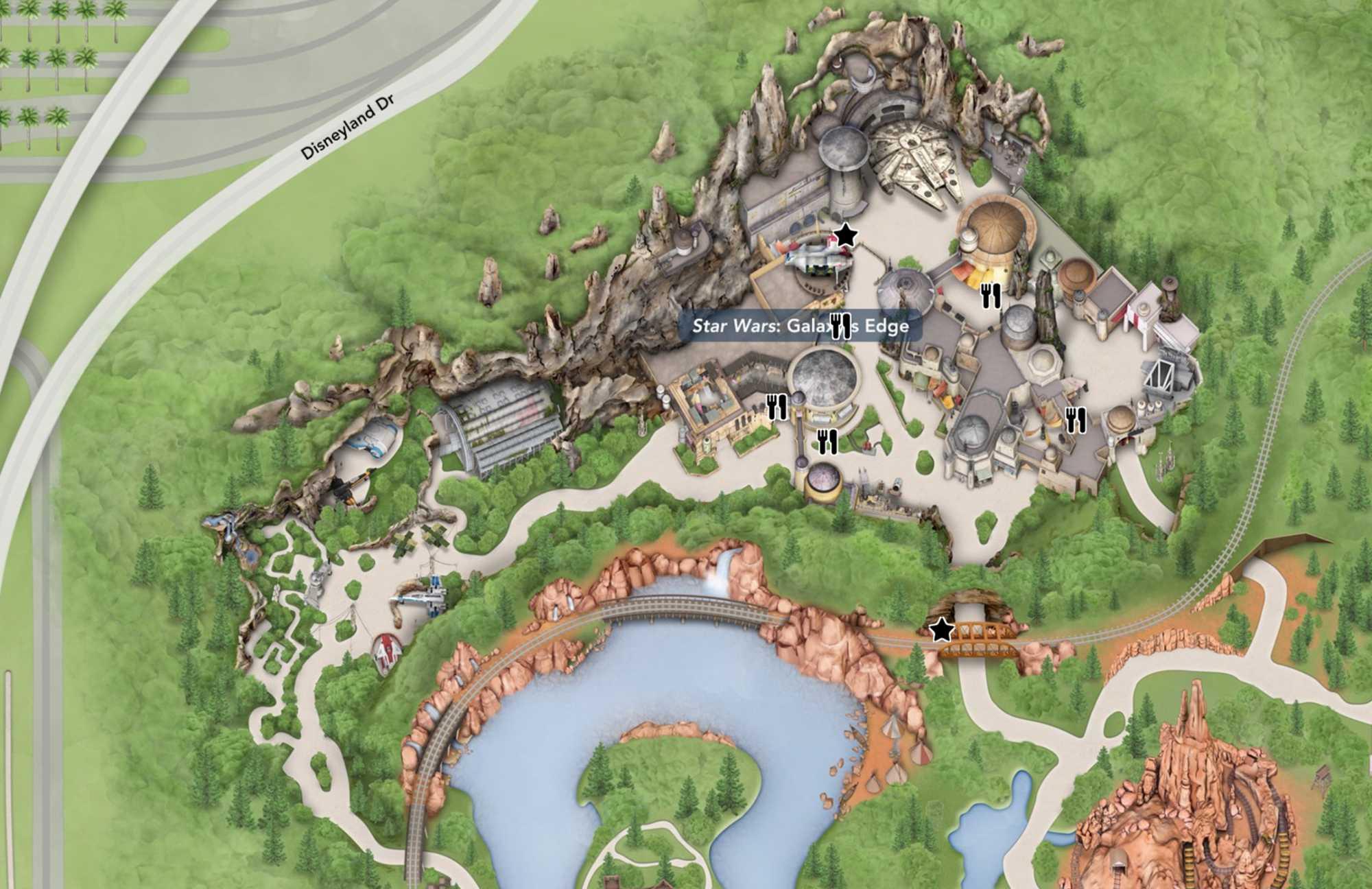 Disney hat für Galaxy's Edge eine Fl?che von rund 56.500 Quadratmetern bebaut.