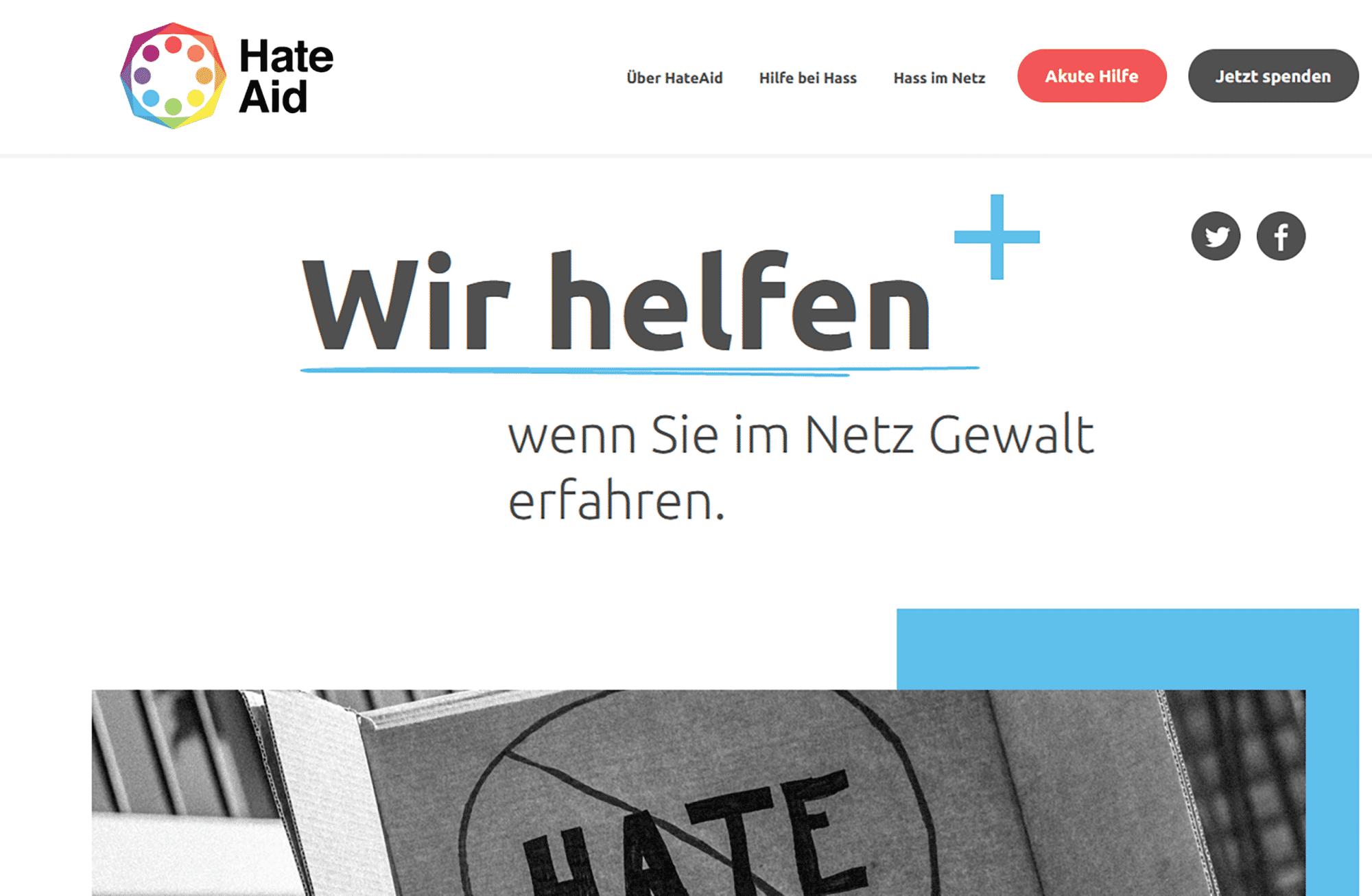 Die Organisation Hate Aid unterstützte Renate Künast bei ihrer Herausgabe-forderung gegen Facebook.