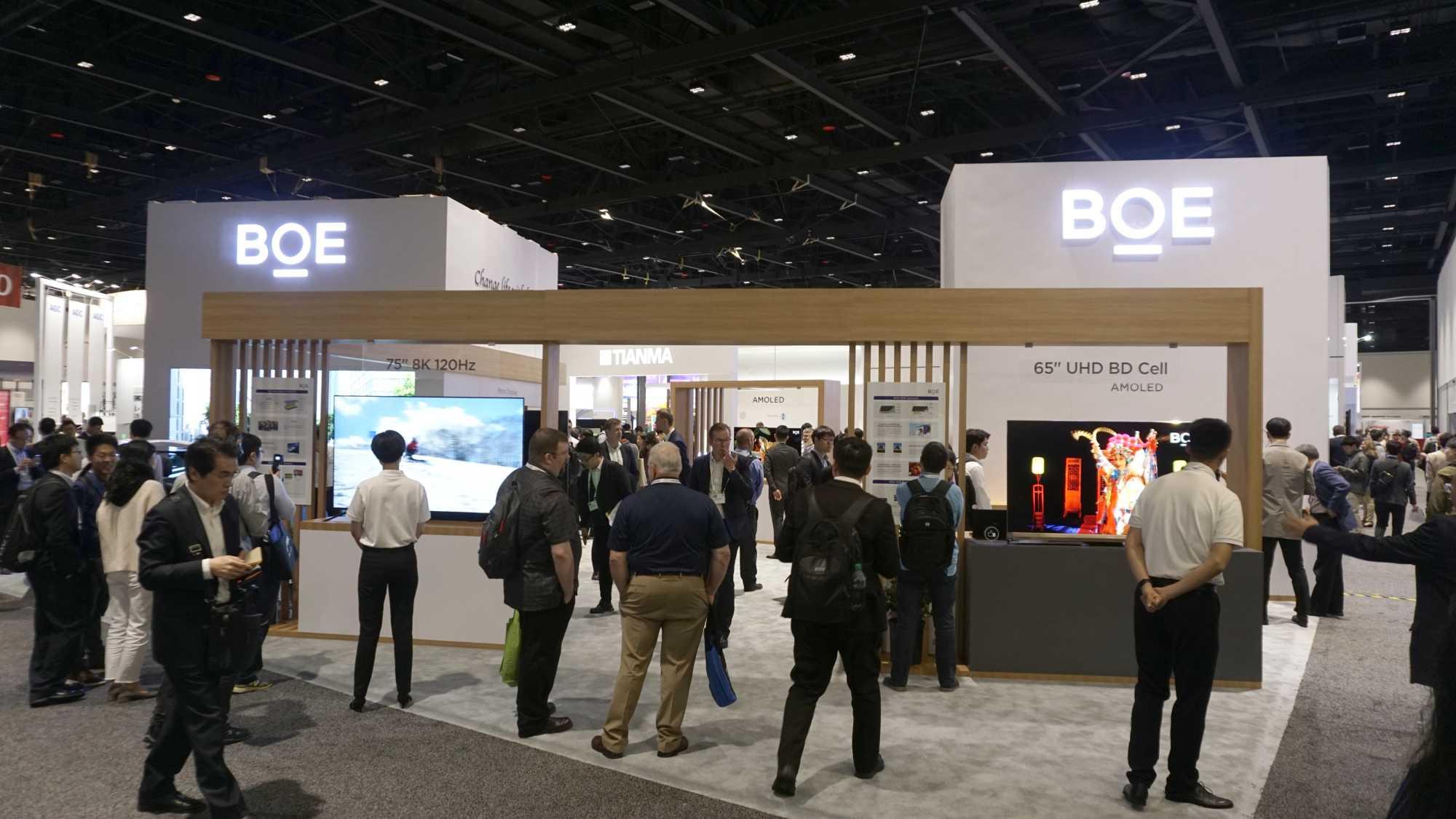 Der chinesische Panelhersteller BOE legte auf der Displayweek 2019 einen großen Auftritt hin.