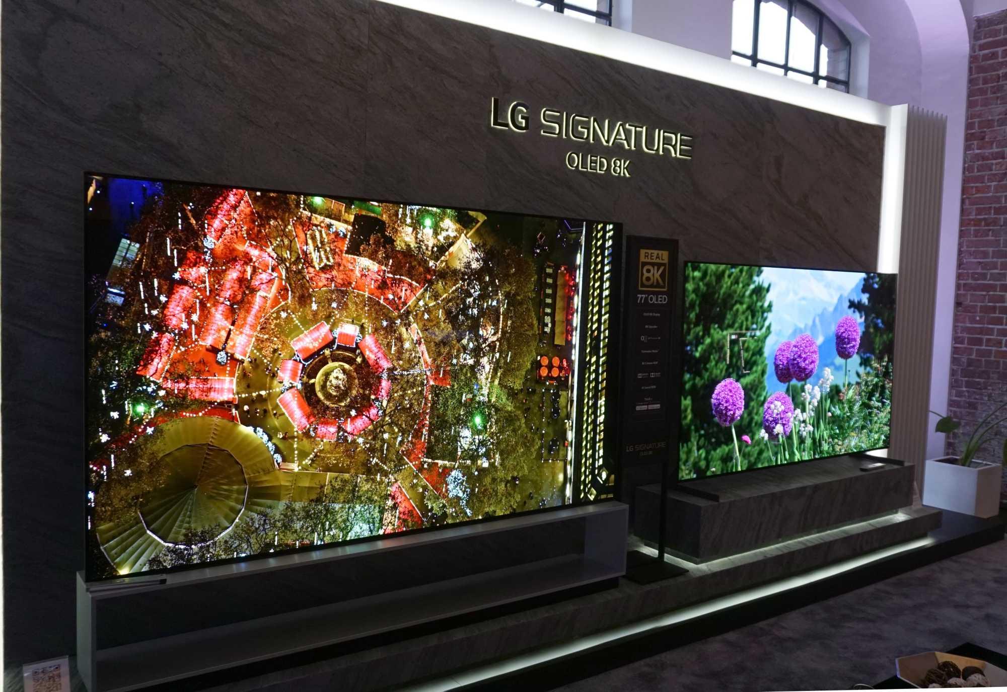 LG bietet seine OLED-TVs auch mit 8K-Auflösung an. Diese werden mangels Inhalten in diesem Jahr aber wohl nicht allzu viele Käufer finden.