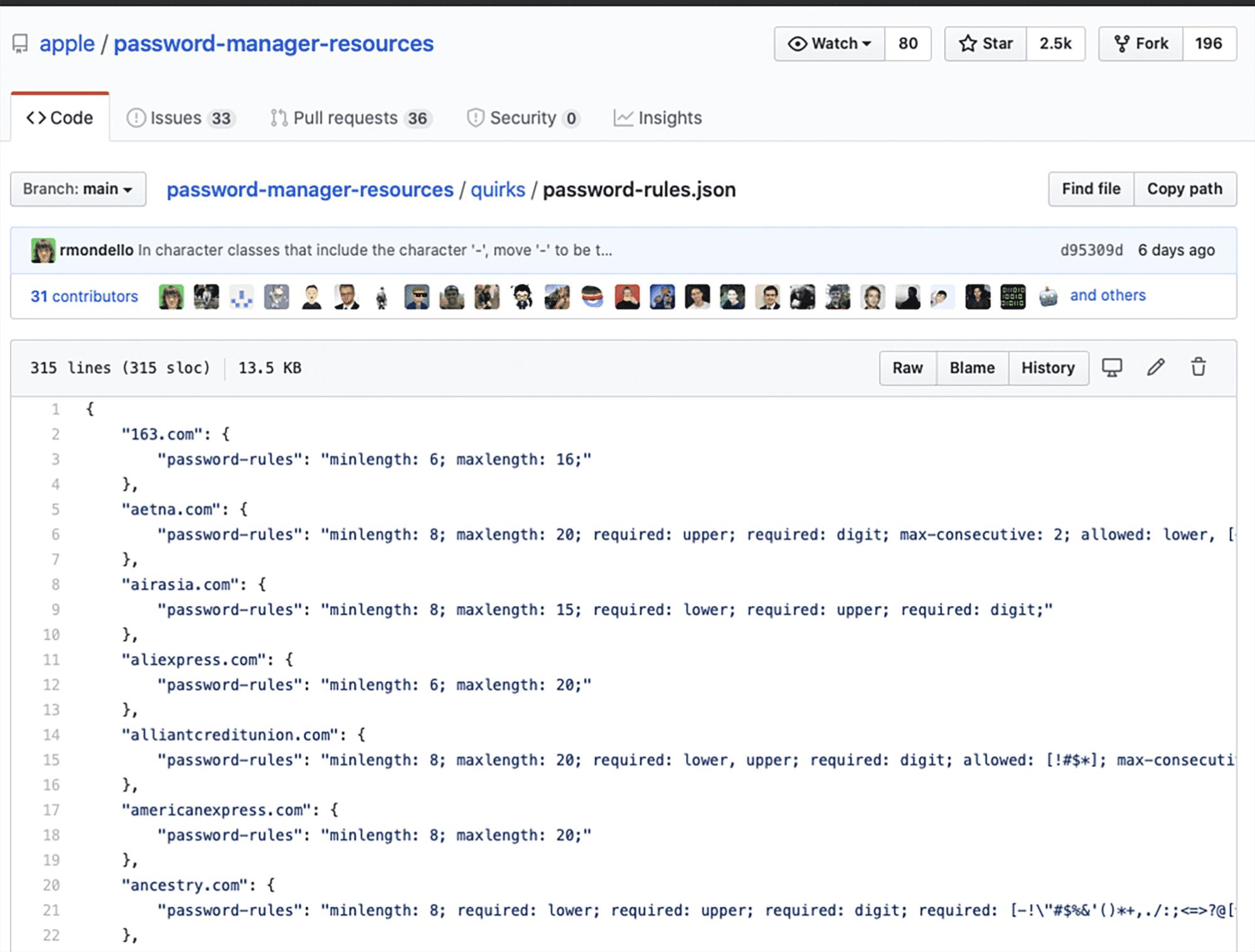 In einem GitHub-Repository sammelt Apple die Kennwortrichtlinien von Websites. An dem Wissen dürfen sich Entwickler von Passwortmanagern bedienen. Beiträge von Anwendern sind willkommen.