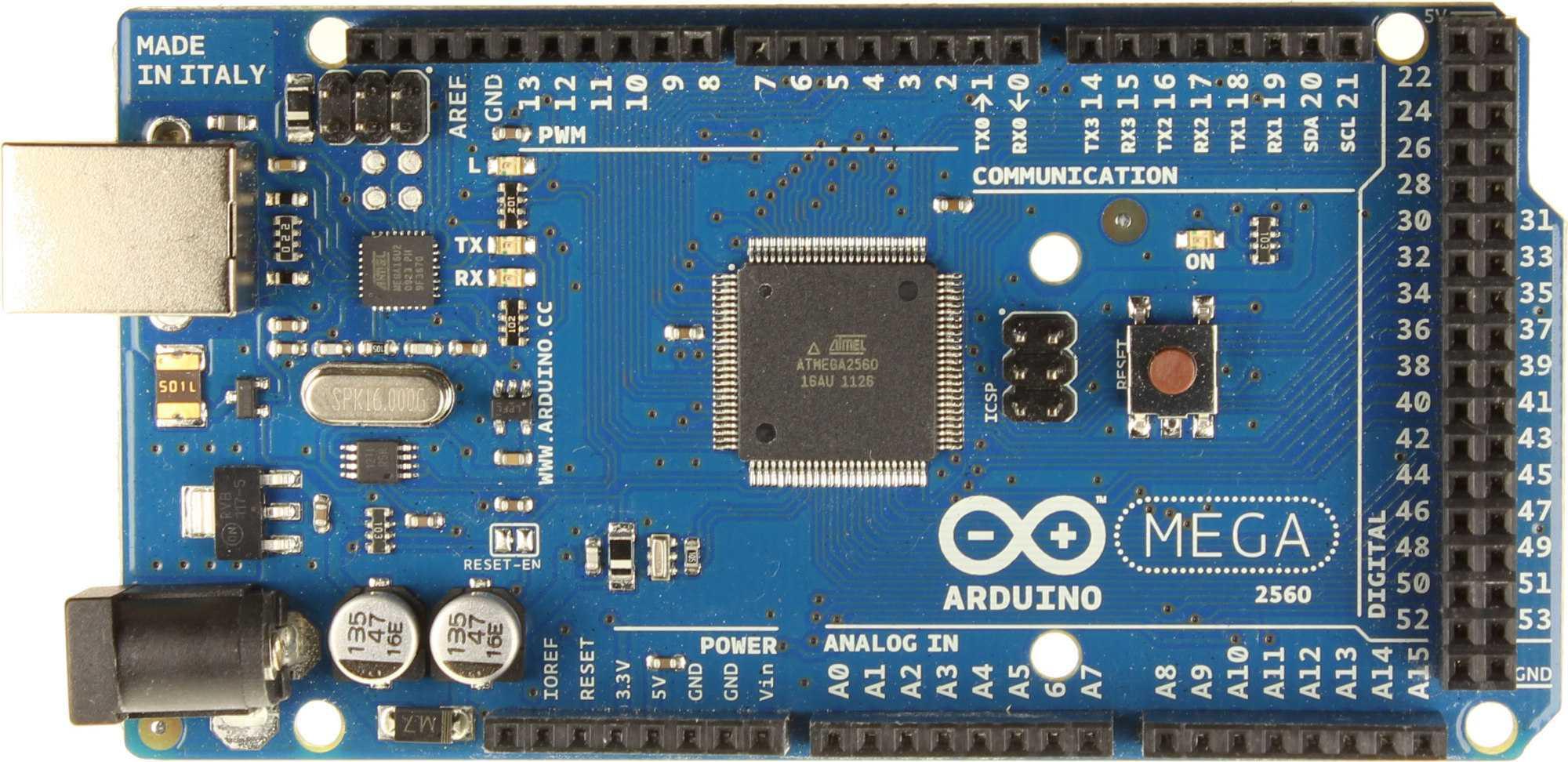 Arduino Mega 2560, der Kontaktfreudige unter den Arduinos