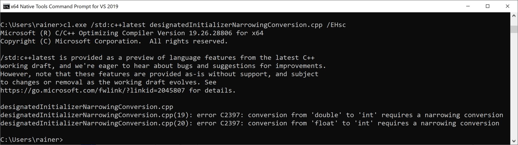 C++20: Designated Initializers