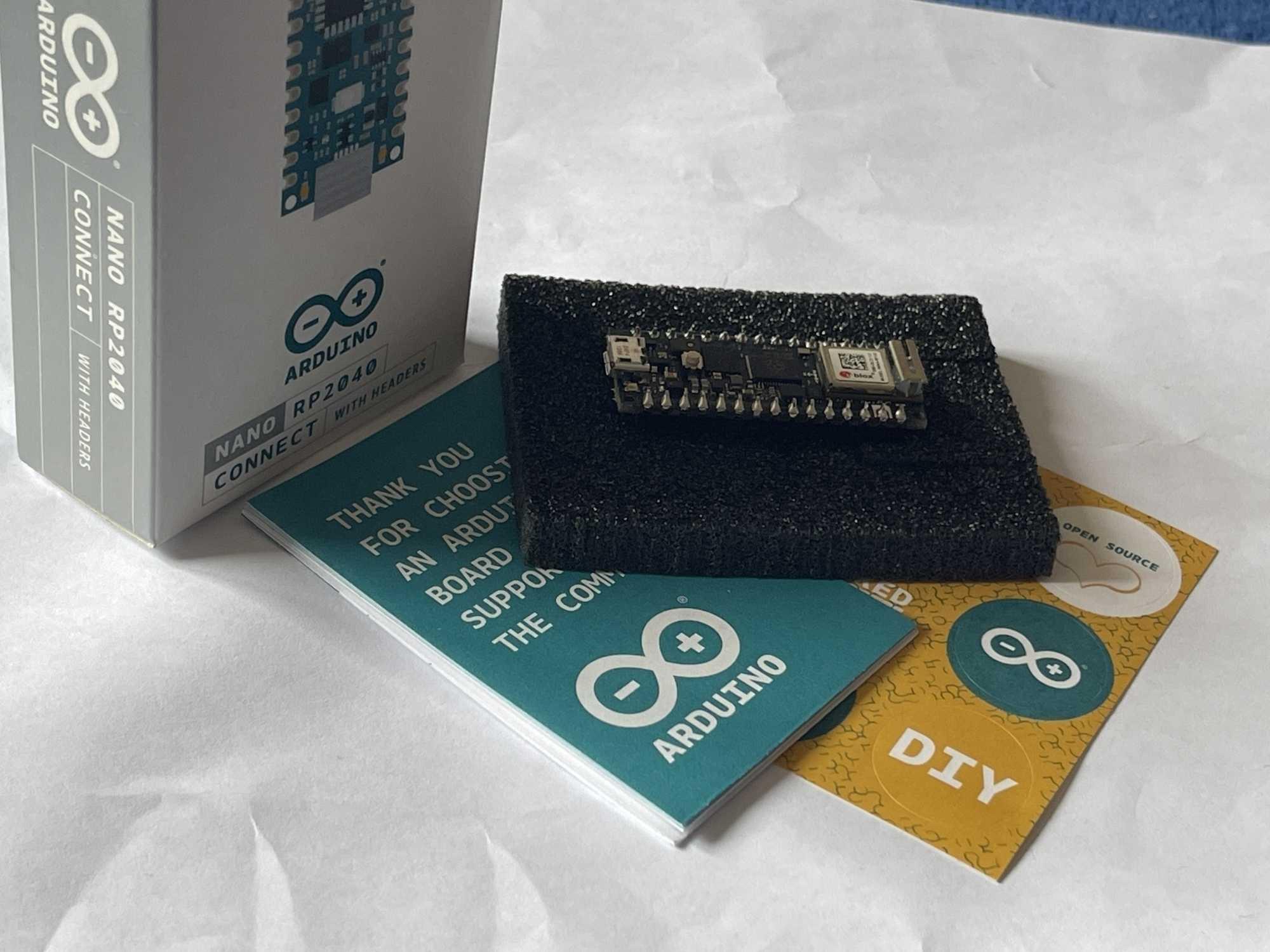 Das neue Board Arduino Nano RP2040 Connect