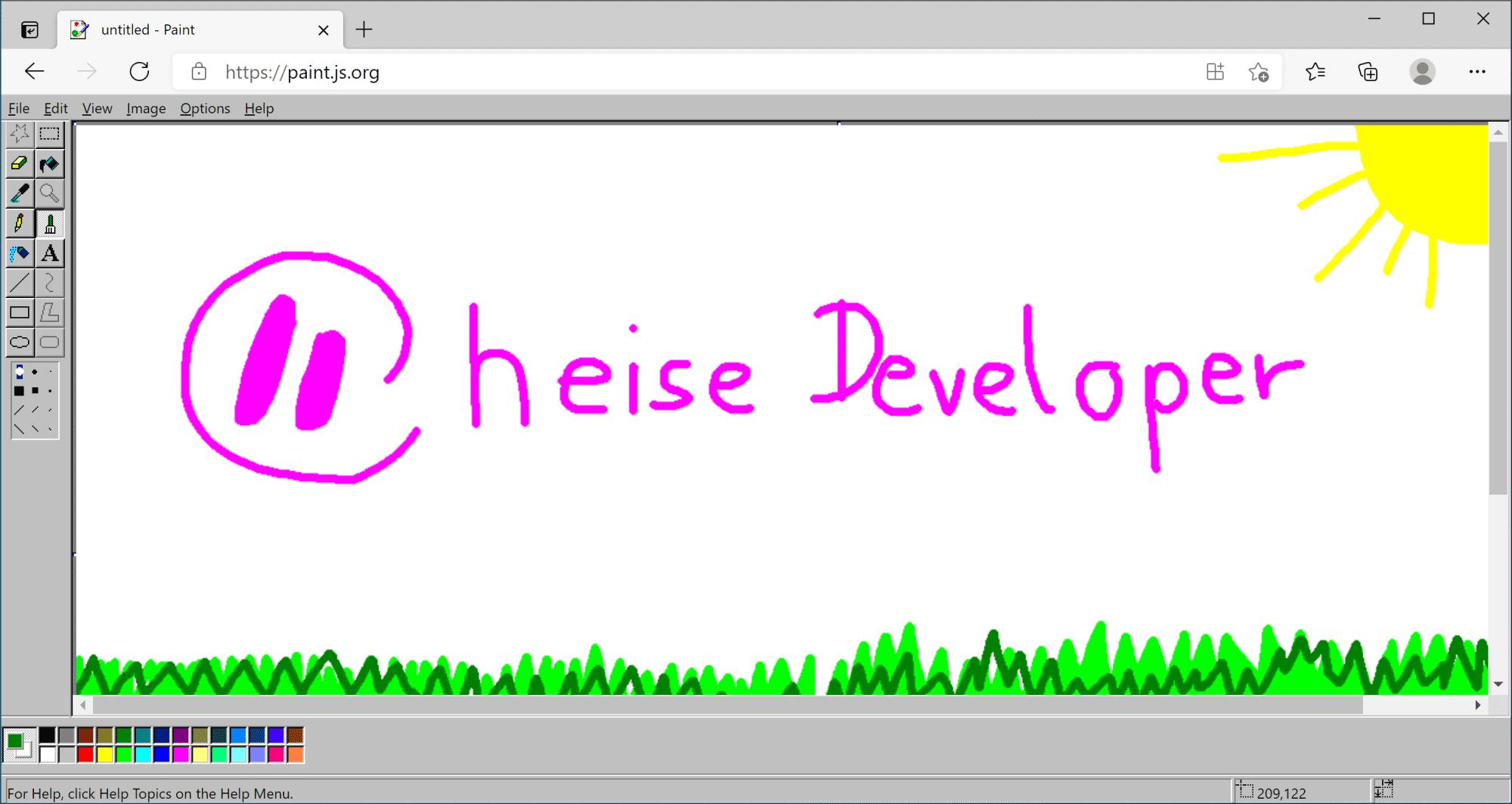 Das Paint-Remake läuft komplett ohne Installation im Browser