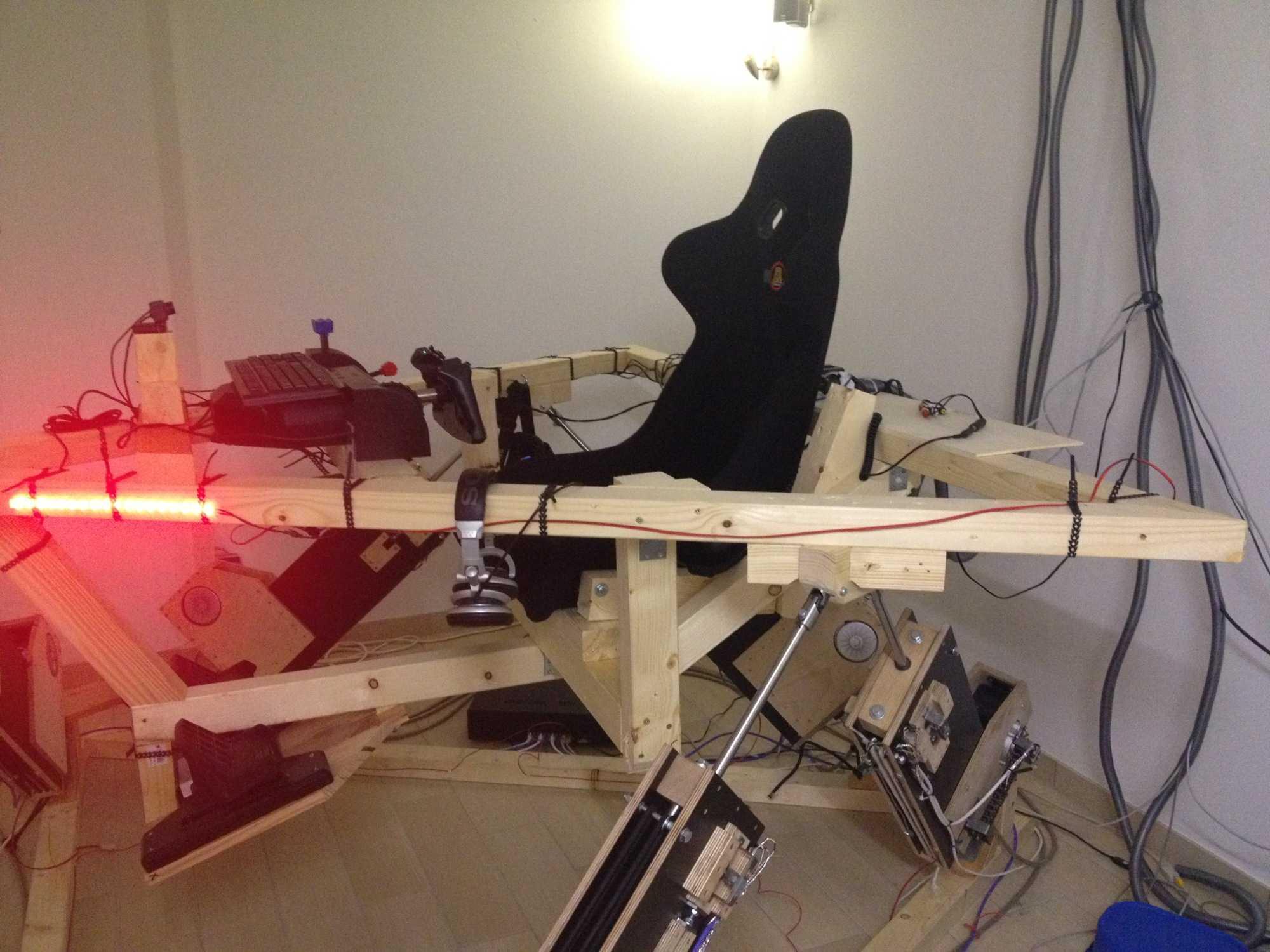 Fliegen ben wie die profis im eigenbau simulator make - Leinwand selber bauen anleitung ...