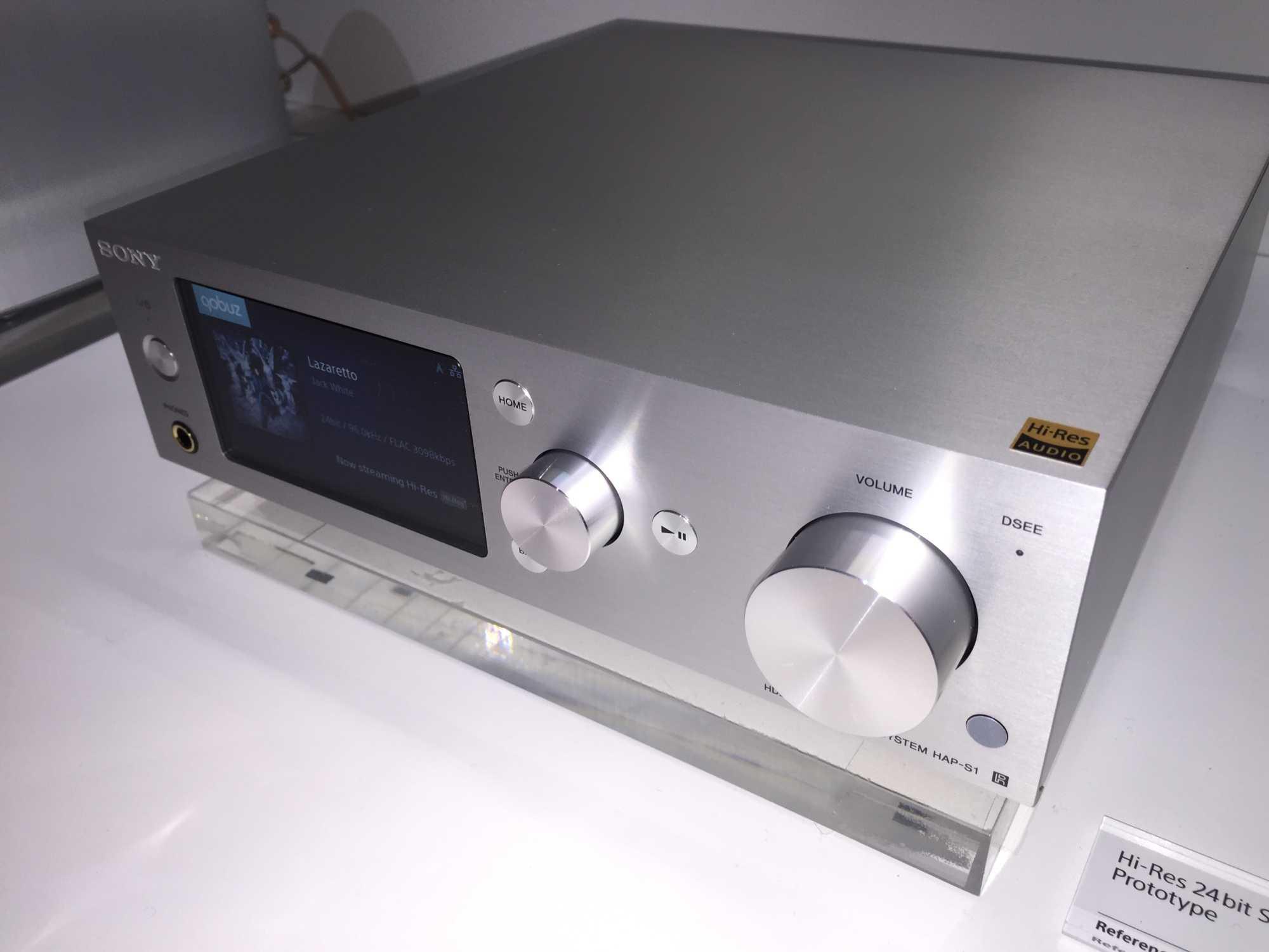 Der Streaming-Client HAP-S1 ist ein Prototyp. Er spielt HiRes-Musik des französischen Anbieters Qobuz.