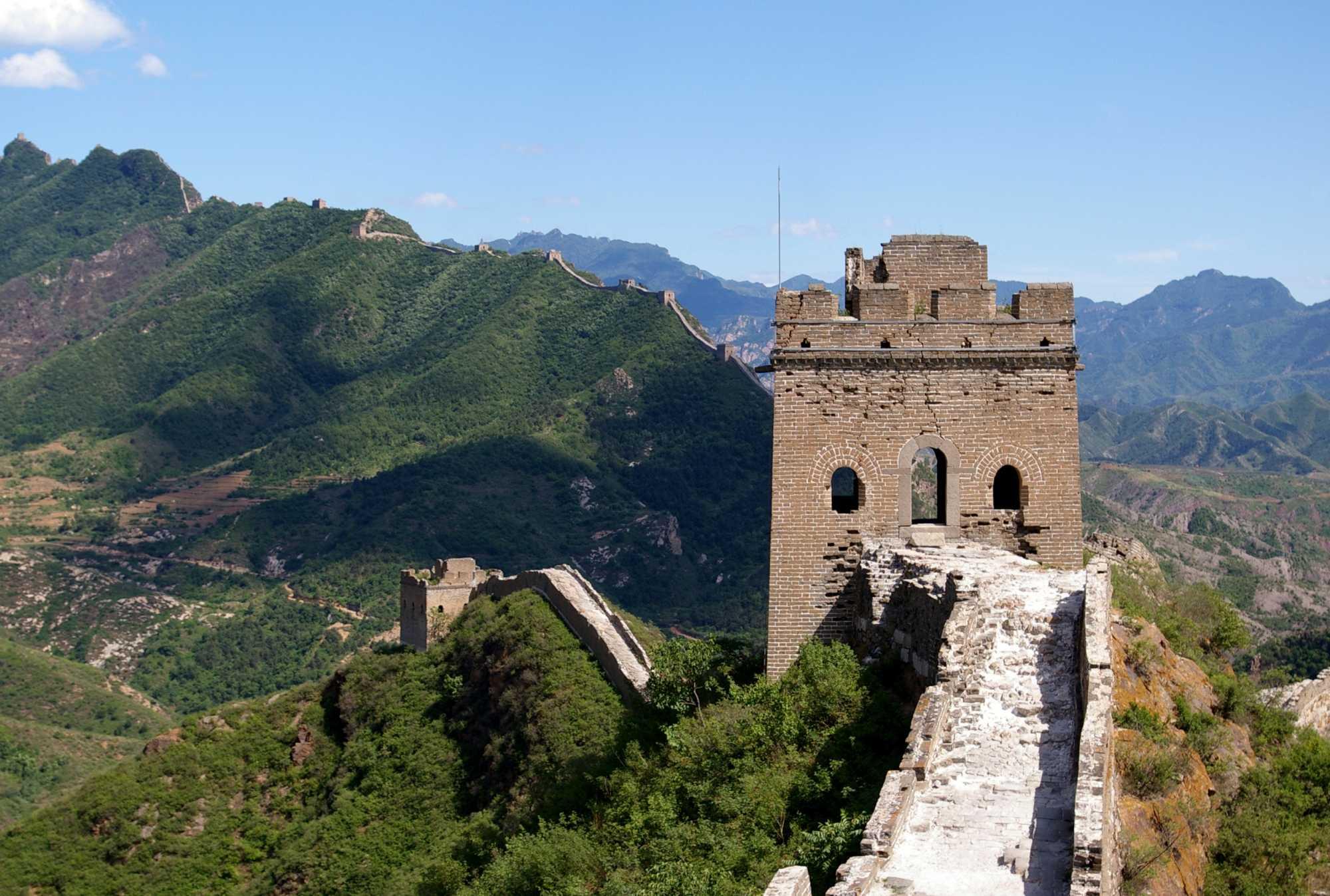 Große Mauer in bescheidenem Zustand