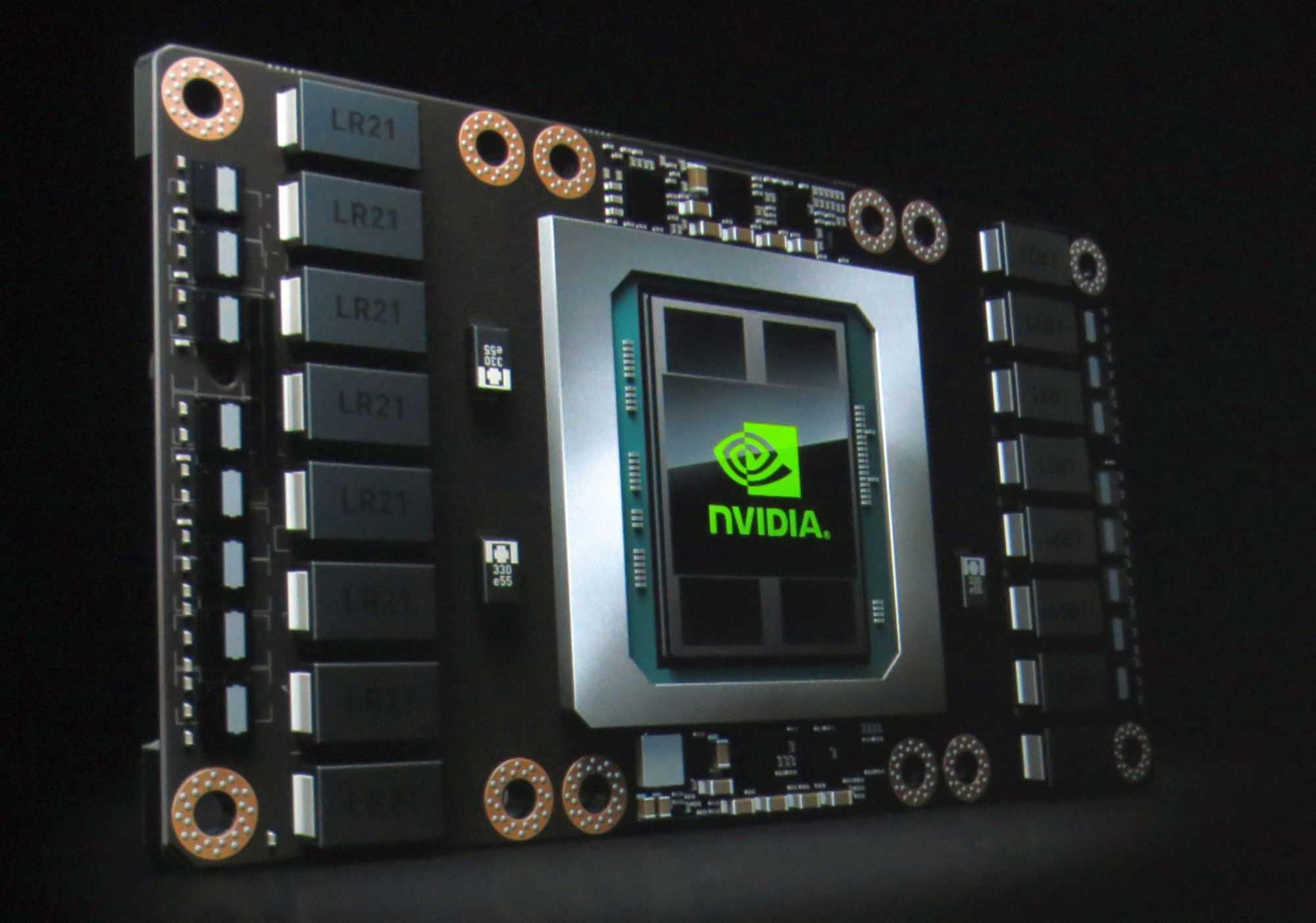 Der Rechenbeschleuniger Tesla P100 bietet 16 GByte gestapelten HBM2-Speicher.