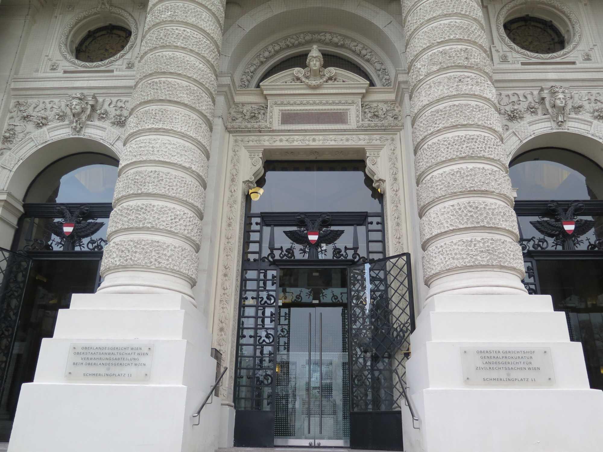 Eingang zum Obersten Gerichtshof in Wien