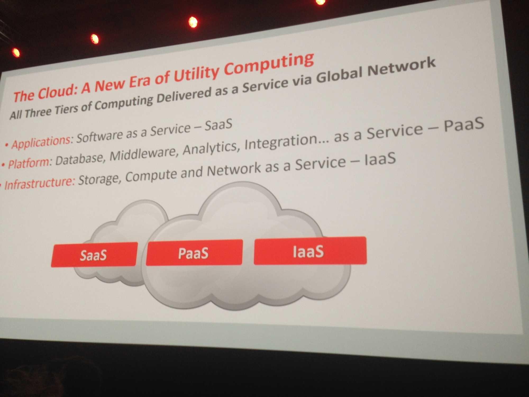Oracles Cloud bedient SaaS, PaaS und IaaS