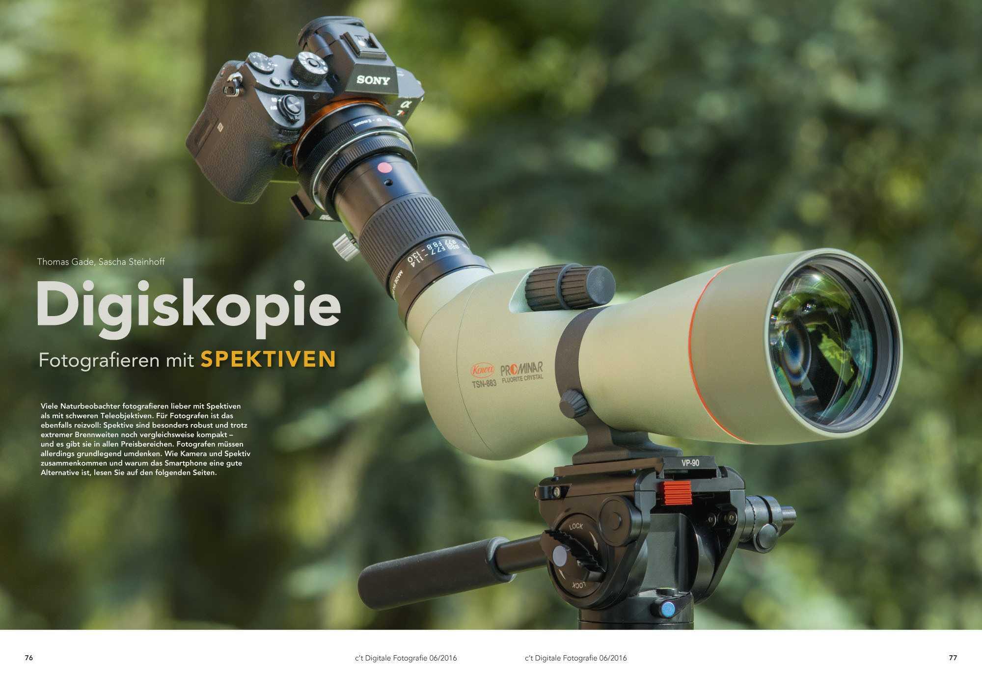 c't Fotografie: Digiskopie - Fotografieren mit Spektiven